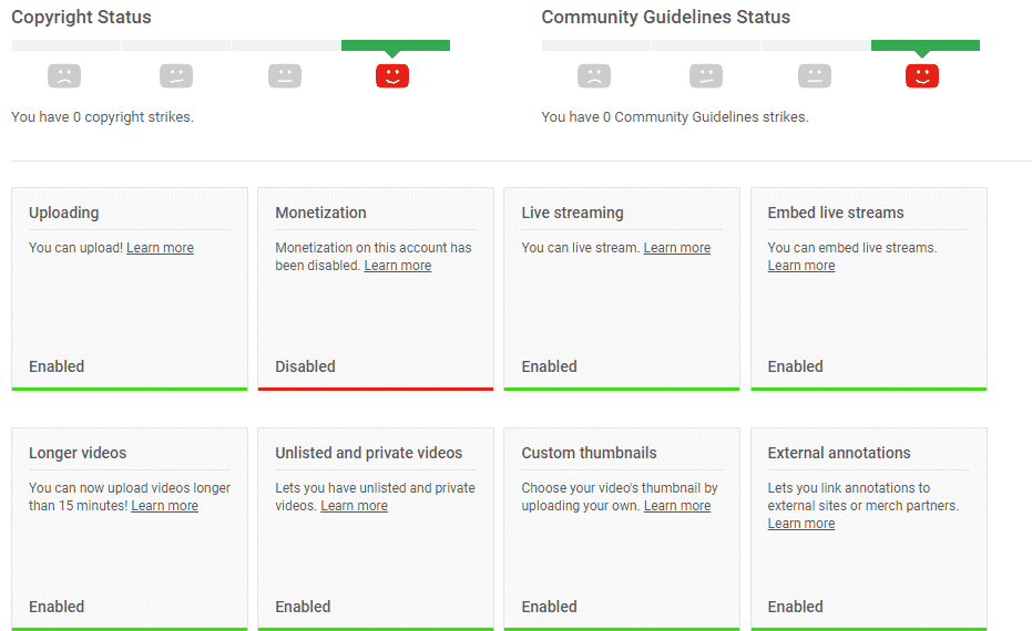 Monetization Is Disabled For My Channel
